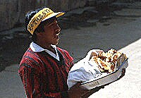 Food seller at station